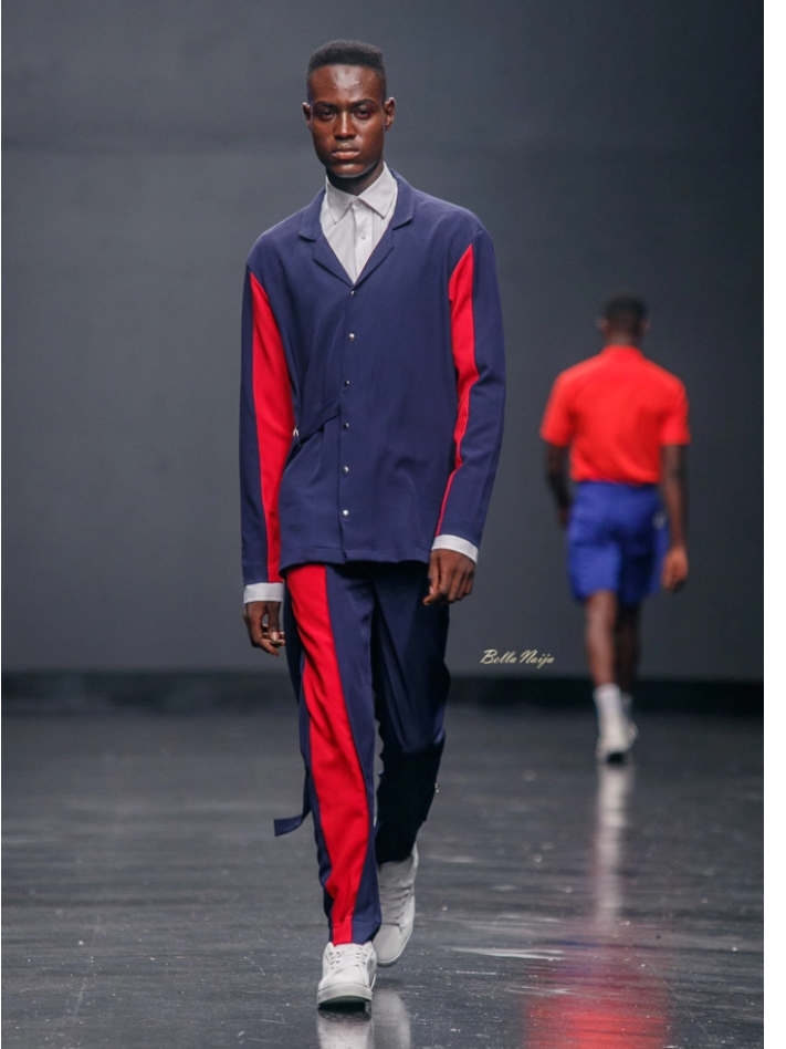 Jermaine Bleu  at Lagos Fashion Week 2018