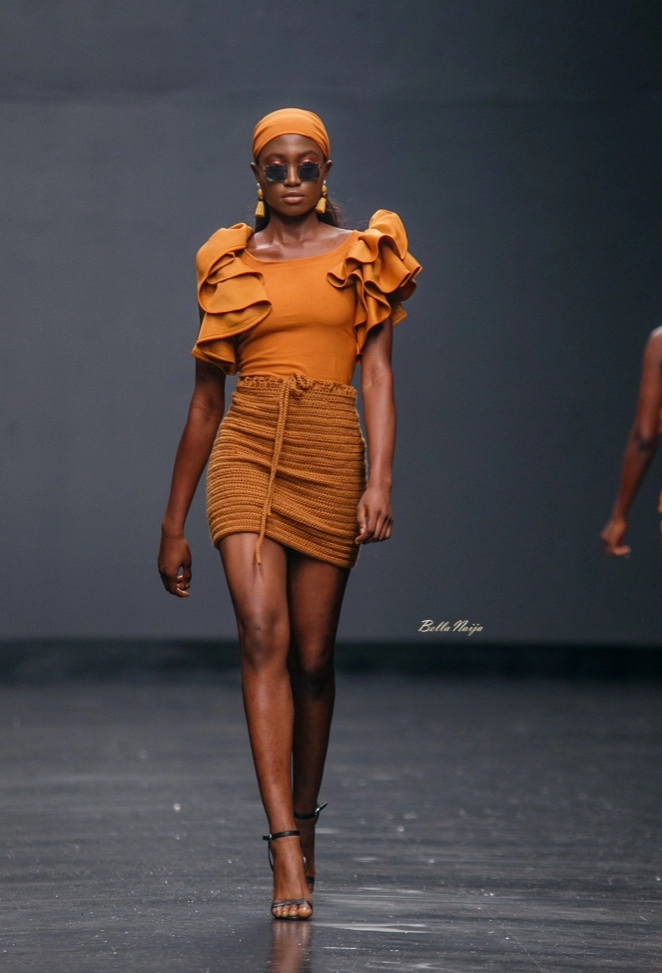 Fayrouz Green Access  at Lagos Fashion Week 2018