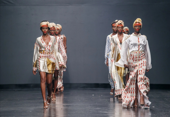 Eki Orleans  at Lagos Fashion Week 2018